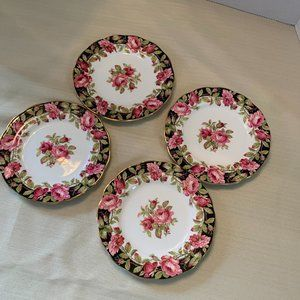 Queen Anne Pink Floral Butter Plates Set of 4